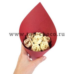 Букет из 7 шоколадных роз